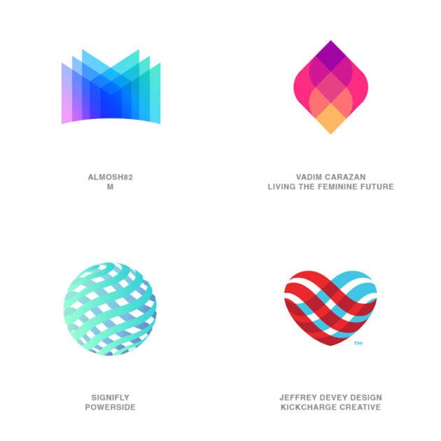 ロゴデザインのトレンド5【透明な反転】