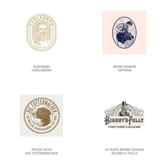 ロゴデザインのトレンド14【エッチング】