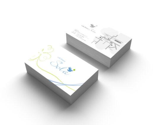カフェ&ビストロのショップカードデザイン