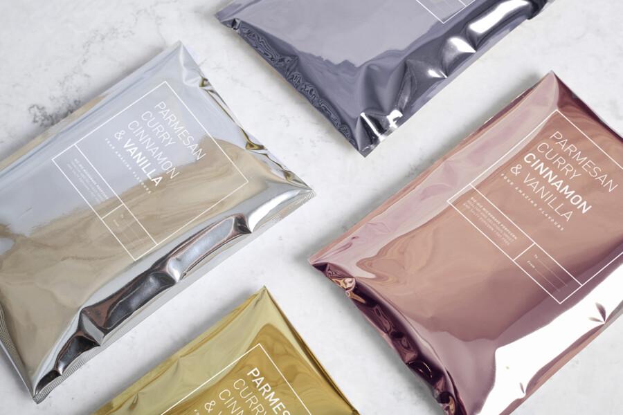 各フレーバーのパッケージデザイン作例