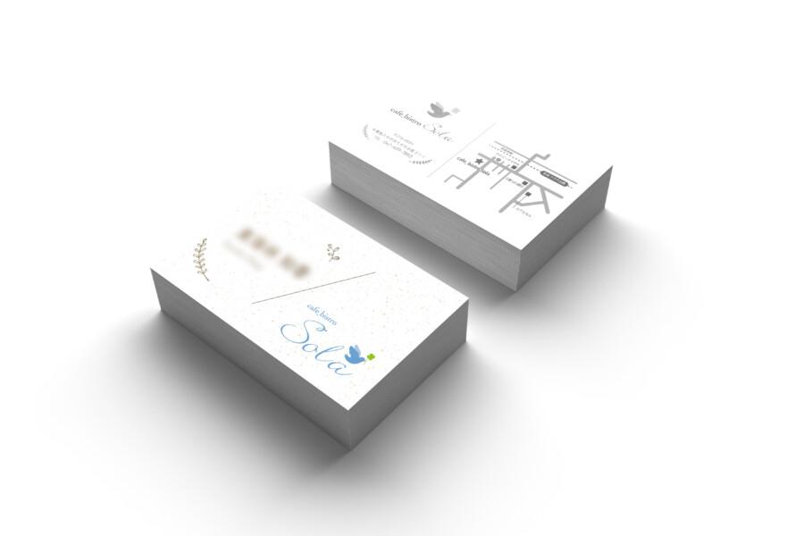 カフェ&ビストロのスタッフ名刺デザイン