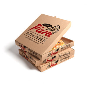デリバリーピザのパッケージデザイン事例