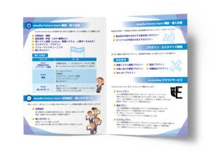 展示会二つ折りパンフレット制作例_2