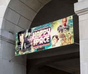クラブのデイイベントの横断幕デザイン作成例2