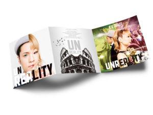 男女二人組R&Bユニットのアルバム歌詞カードデザイン_表